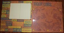 Tiger Cubs / Boy Scouts 12 x 12 premade scrapbook layout 3D handmade asembled