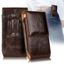 FOR SAMSUNG GALAXY S9 - VERTICAL LEATHER POUCH HOLDER BELT LOOP HOLSTER CASE
