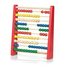 WOODEN ABACUS - TRADITIONAL COLOURFUL CHILDRENS TOY CLASSIC LEARNING COUNTING ED