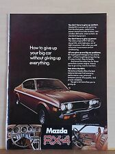 1974 magazine ad for Mazda RX-4 - How to Give Up Your Big Car, colorful