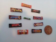 1/12 Scale Assorted Sweet packets set of 10 for Dollhouse miniatures ****