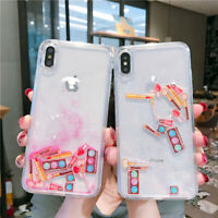 Quicksand Cosmetic Phone Case For iPhone 11 7 8 XS Dynamic Liquid Makeup Icon