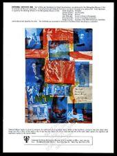 1971 Robert Rauschenberg art Centennial Certificate MMA vintage print ad