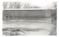 D78/ Cataract Indiana In Real Photo RPPC Postcard Covered Bridge c1950s