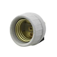 Leviton 8875 Medium Porcelain Snap-In with Screw Term Socket Lampholder 26126