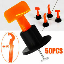50Pcs Reusable Anti-Lippage Tile Leveling System Positioning T-lock Floor Tool