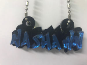 Graffiti Name Plate Chain Any Name Graffiti Chain Custom Name Laser Cut To Order