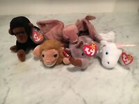 Lot Of TY Beanie Babies Jungle Animals. All The Collectible Ones.