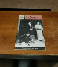 1961 THE PLAYGOER THEATRE MAGAZINE BALTIMORE THEATRE ''A MAJORITY OF ONE'' COVER
