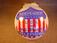 Independent Local and Long Distance Telephone Glass Lamp Shade