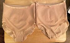 2 Vintage Control Panties Size 4-8 Beige Women's Undergarment