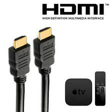 Apple TV (4th & 3rd gen) HDMI to HDMI TV 5m Long with Fuse Gold Lead Wire Cable