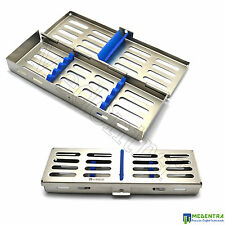 Acier inoxydable cassette tray rack pour 5 chirurgie dentaire instruments implant lab