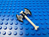 LEGO-MINIFIGURES SERIES NINJAGO X 1  WHITE BONE AXE WEAPON BRAND NEW PARTS