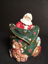 Fitz And Floyd Santa With Toy Sack Candleholder Christmas