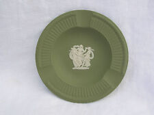 Wedgwood Jasperware Sage Green White Three Graces Cameo Ash Tray England