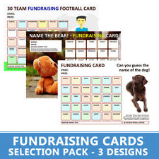 Fundraising Cards | - 6 Charity Cards - | Name The Dog, Name The Bear & Football