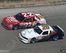DAVEY ALLISON BOBBY ALLISON 1987 FORD HAVOLINE NASCAR AUTO RACING 8X10 PHOTO