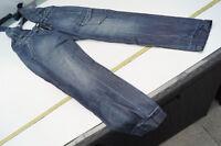 MISS SIXTY Damen Jeans Hose Latzhose Gr.24 darkblue stonewashed blau used l. #62