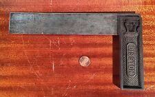 "Antique DISSTON No 5 1/2 Iron Try Square circa 1918 KEYSTONE 8"" Graduated Scarce"