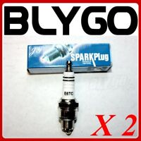 2X E6TC Ignition Spark Plugs YAMAHA PW50 PY50 PEEWEE 50 PIT DIRT BIKE