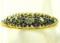 Diamond Half Eternity Ring Art Deco 18ct Gold & Platinum Size O 1/2 0.20 Cts