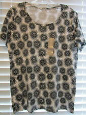 Womens WHITE STAG Scoop Neck Top Sz L 12-14 NWT Short Sleeve 100% cotton