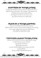 Psychic Vampire Protection Spell Wicca Book of Shadows Page on Parchment