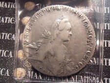 RUSSIA CATERINA II RUBLO 1766 RARA ARGENTO