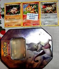 Lot 80 Cartes POKEMON Différentes NEUVES + POKEBOX KDO