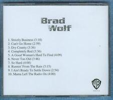 VERY RARE UNRELEASED 2003 BRAD WOLF 10 TRACK CD - MINT!