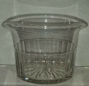 19th Century Clear Blown Flint Glass Wine Rinser Facet & Star Cut Decoration