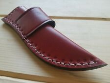 """Hand Made Leather Knife Sheath Horizontal Scout Carry 8"""" Length RH / LH  LS10"""