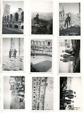 ORIGINAL VINTAGE GERMAN WW2 PHOTOS X 9 -TROOPS  IN UNKNOWN PLACE-FAR EAST