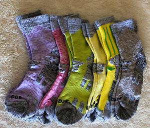 YUEDGE 8 Pair Women's Cushion Combed Cotton Crew Socks Sports/Hiking Socks XL