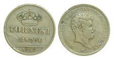 pci0383)  Napoli REgno delle Due Sicilie Ferdinando II  5 Tornesi 1858