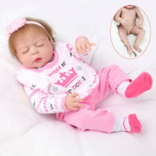 "23"" Full Body Silicone Vinyl Reborn Dolls Lifelike Baby Girl Newborn Doll Gifts"