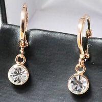 1.5 Ct Cubic Zirconia Earring Drop/Dangle Women Jewelry 14K Rose Gold Plated