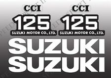 SUZUKI 1973 - 1979 TS125 1973 - 1977 TC125 TANK & SIDE COVER DECALS SET TS 125
