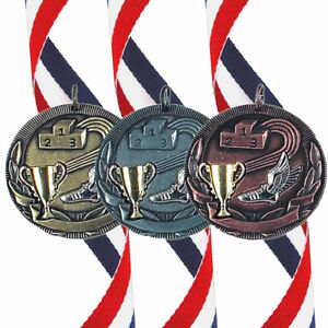 Athletics - 50mm Medal (In Gold, Silver or Bronze) With Ribbon & FREE Engraving