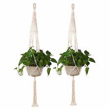 Cotton Macrame Plant Hanger Flower Pot Holder Garden Lifting Rope Hanging Basket