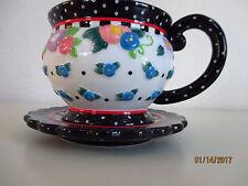 """Mary Engelbreit """"Oh So Breit"""" Tea Cup & Saucer (Rare Find)"""