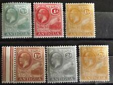 ANTIGUA KG V 1921-29 PART SETS 1/2d-2 1/2d MINT 6 STAMPS FULL DESCRIPTION BELOW