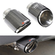 Real Carbon Fiber Exhaust Tips 63mm Inlet Car Muffler Pipe stainless steel 1pcs
