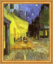 Nachts vor dem Cafe an der Place du Forum in Arles Bütten van Gogh A3 076