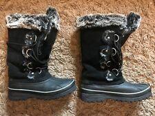 Khombu Ladies Womens Winter Comfy Snow Boots (Black) UK Size 5 EU 38 - VGC