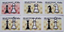 Stadspost Lelystad 2002 - Serie van 6 zegels Schaken, Chess ongetand