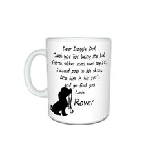Personalised Dog Name(s), Dear Doggie Dad, Thank You Message Mug Gift, Size 11oz