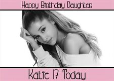 personalised birthday card Ariana Grande any name/age/relation