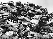 1950s Cars Piled High in junk yard California  8  x  10  Photograph
